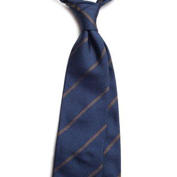 Repp stripe grenadine silk tie