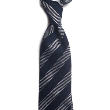 Repp stripe shantung silk tie