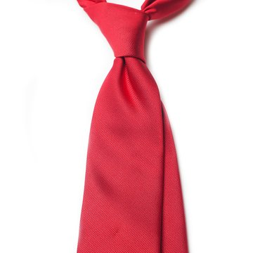 Solid silk tie - red