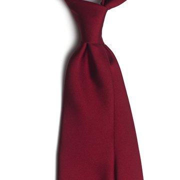 Solid silk tie - burgundy