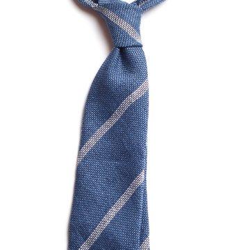 Bar stripe silk tie