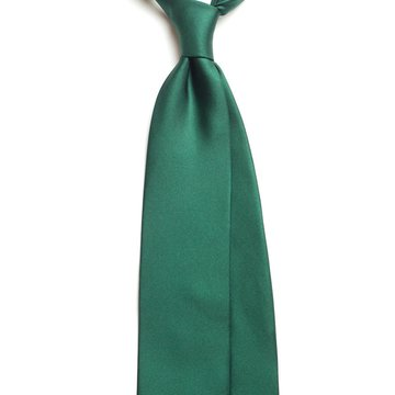 Solid silk tie - green