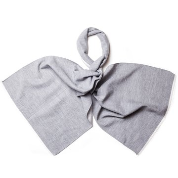 Solid wool scarf - grey
