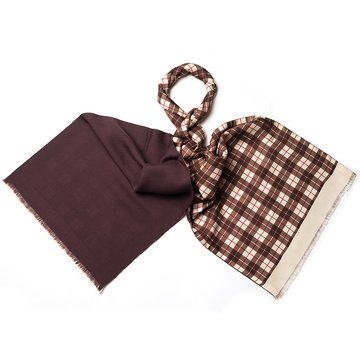 Tartan plaid wool scarf