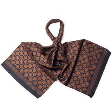 Vintage medallion silk scarf