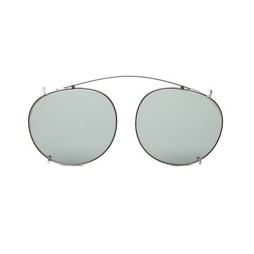 CLIP-ON SILVER - BOTTLE GREEN LENSES