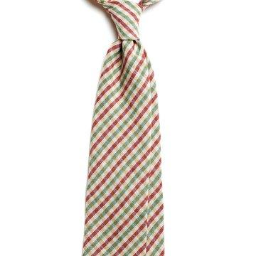 Cravata lana model carouri verde-visiniu