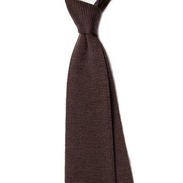 Cravata lana tricotata maro