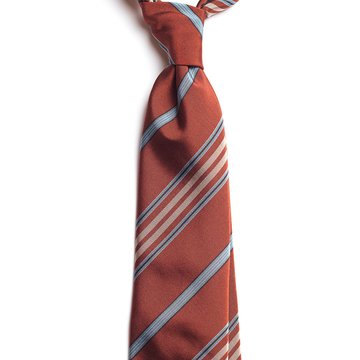Cravata matase caramizie model dungi
