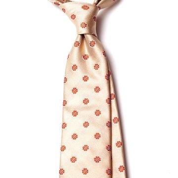 Cravata matase crem model floral