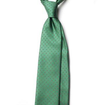 Cravata matase verde model floral