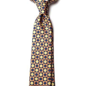Cravata Matase Model Geometric galbena