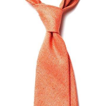 Cravata matase portocalie