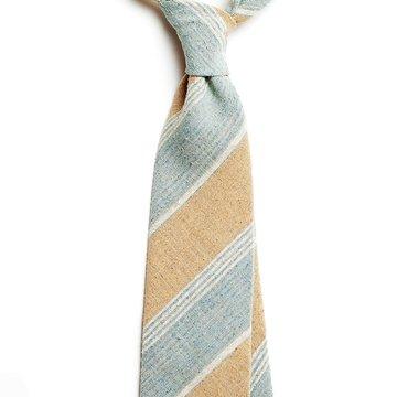 Cravata matase model dungi bleu-crem