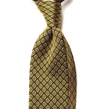 Cravata matase tricotata model geometric