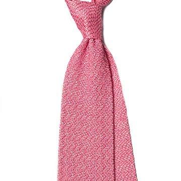 Cravata matase tricotata roz