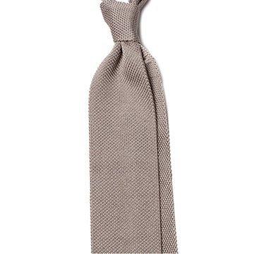Cravata matase tricotata gri