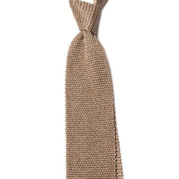 Cravata matase tricotata crem