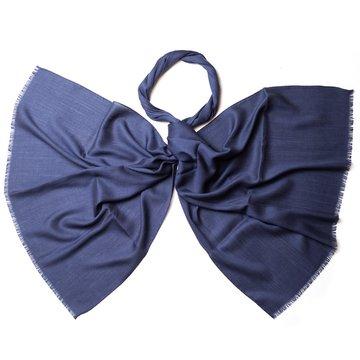 Esarfa lana bleumarin