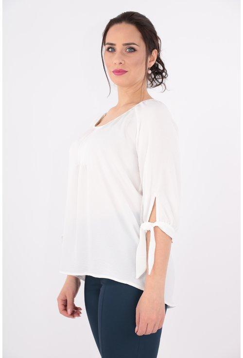 Bluza alba din vascoza