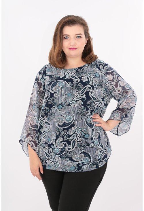 Bluza bleumarin cu imprimeu