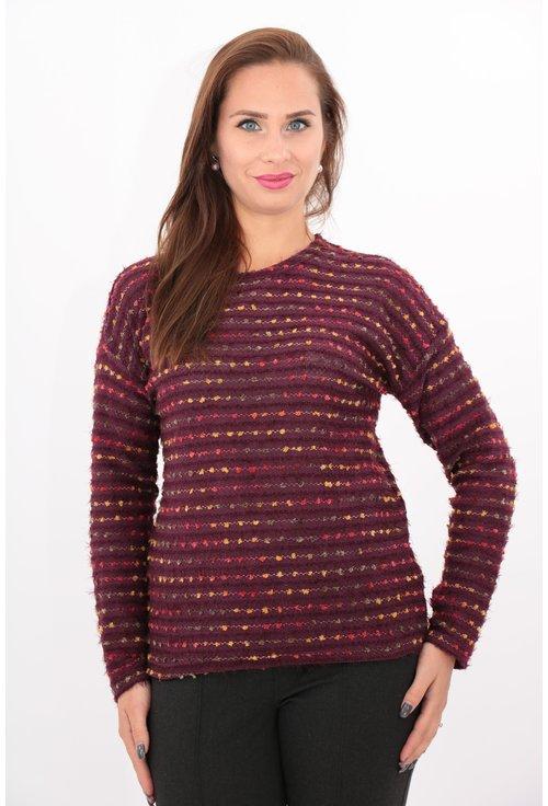 Bluza bordo tricotata