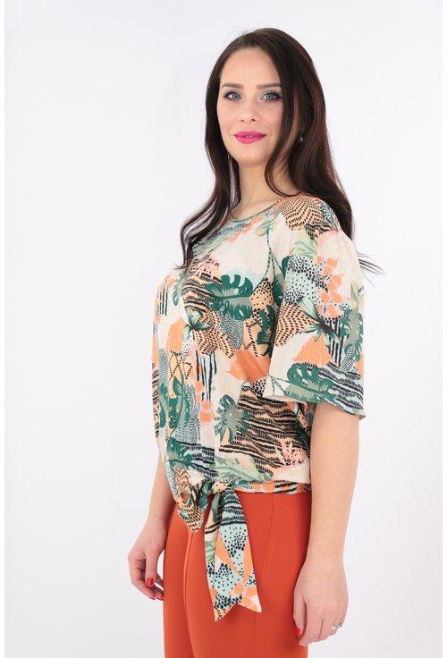 Bluza cu imprimeu caramiziu