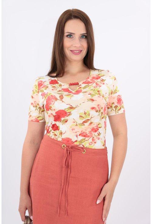Bluza din tricot cu trandafiri