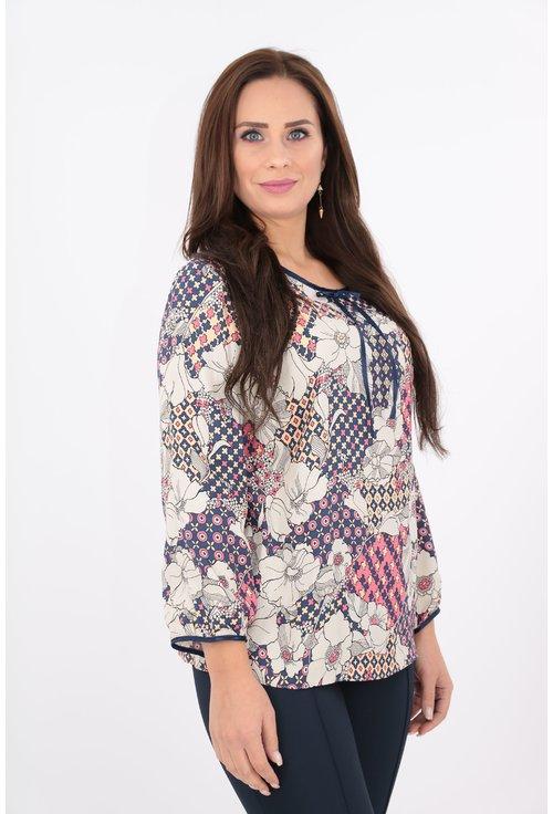 Bluza din vascoza cu imprimeu floral