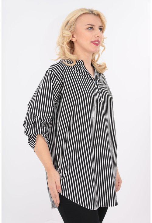 Bluza lunga cu dungi negre