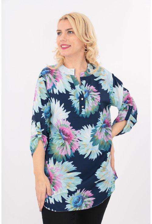 Bluza lunga cu print floral maxi