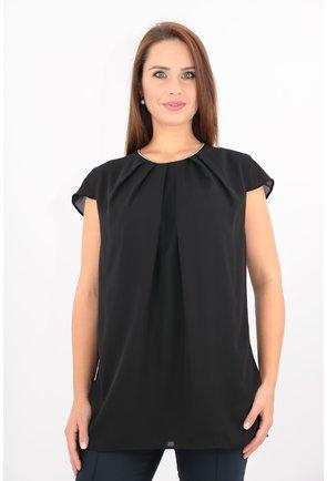 Bluza neagra din voal