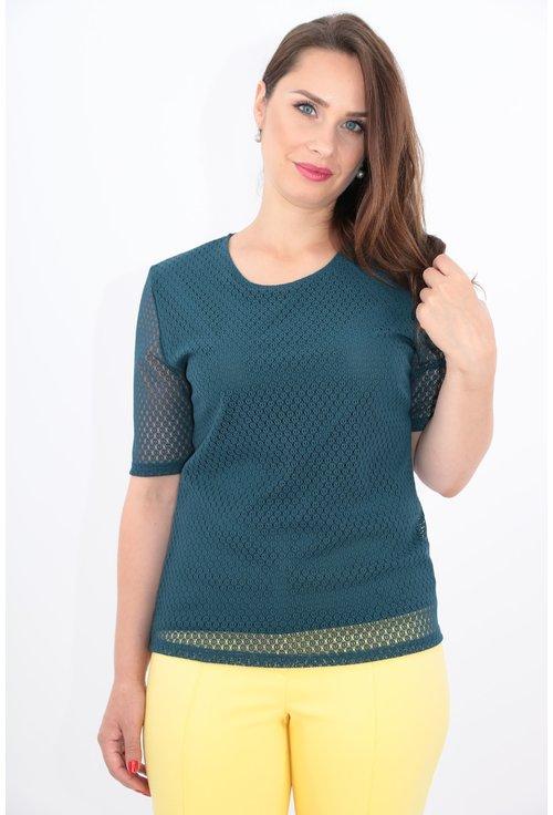 Bluza verde din dantela