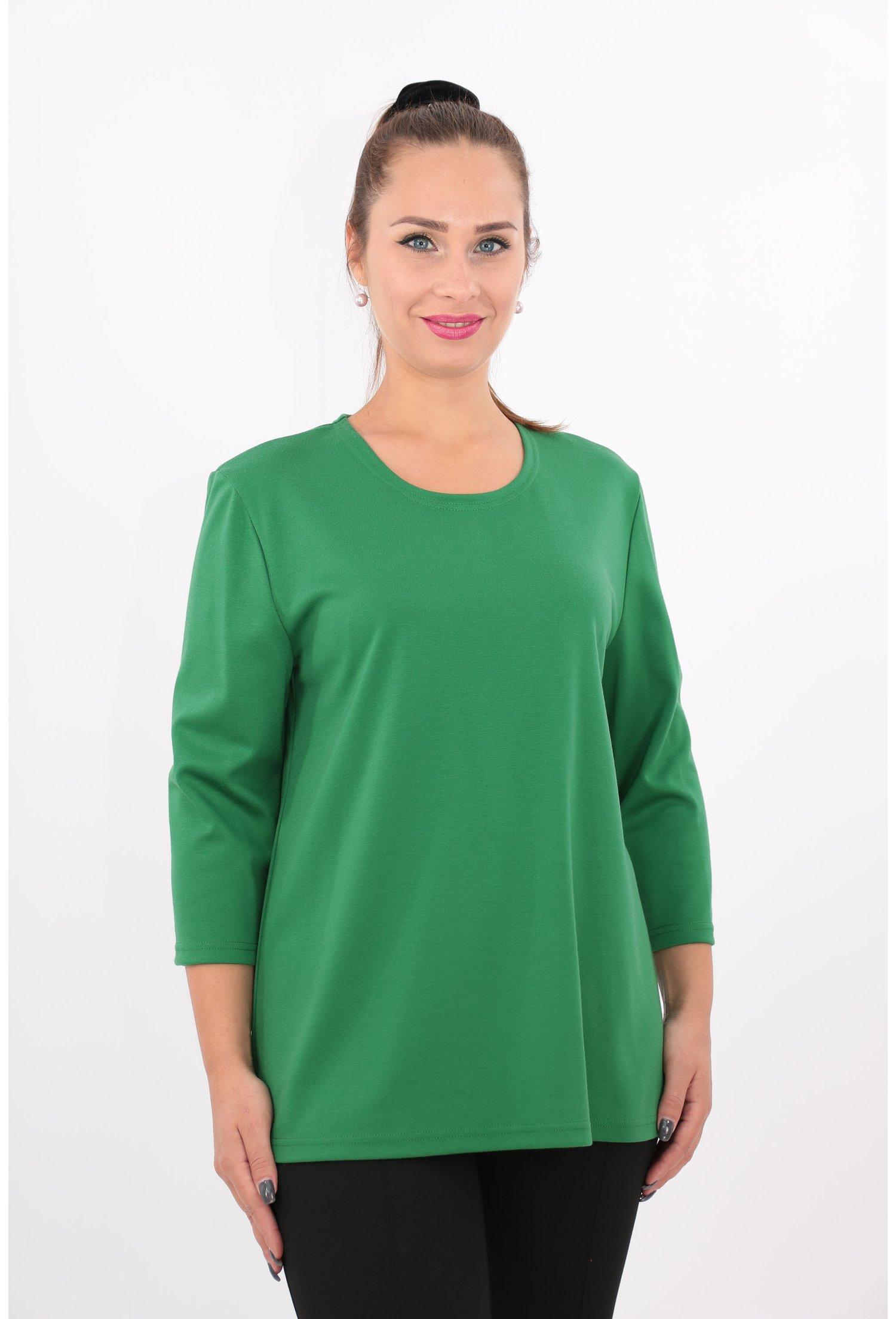 Bluza verde din jerse