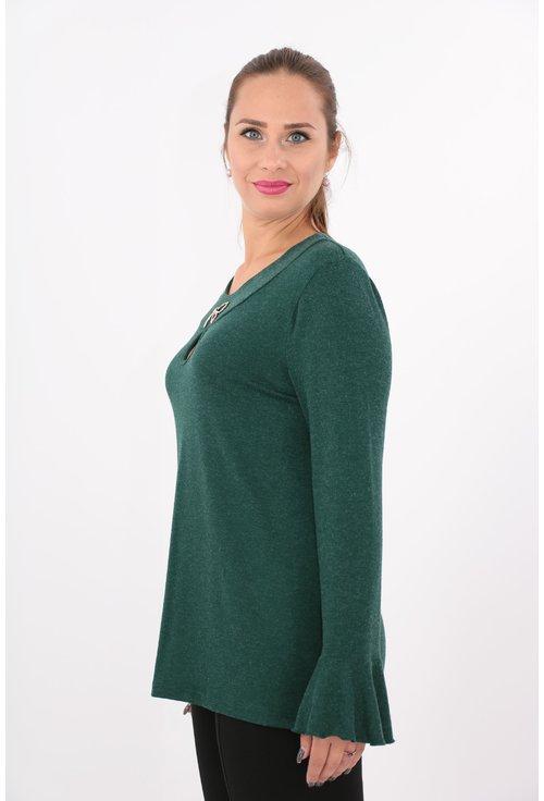 Bluza verde din tricot