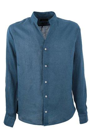 Camasa albastra cu guler tunica si anchior
