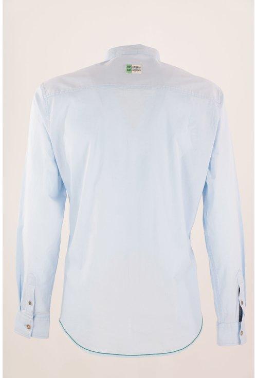 Camasa bleu cu guler tunica
