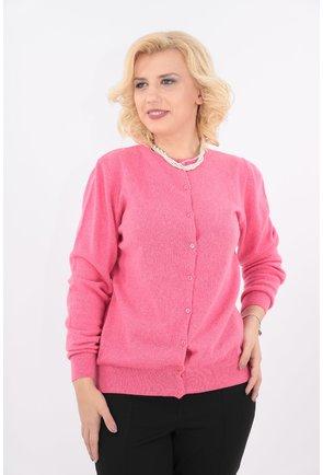 Cardigan roz tricotat din lana