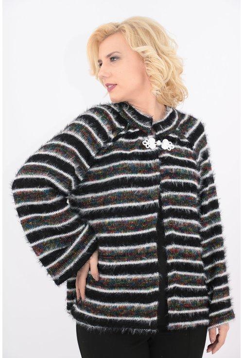 Cardigan tricotat cu dungi