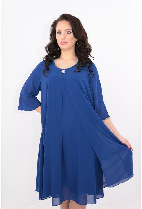 Compleu albastru rochie si blazer