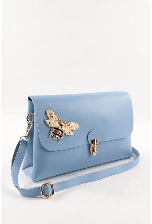 Geanta bleu cu fluturi