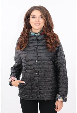 Jacheta de fas matlasata neagra cu maneci raglan