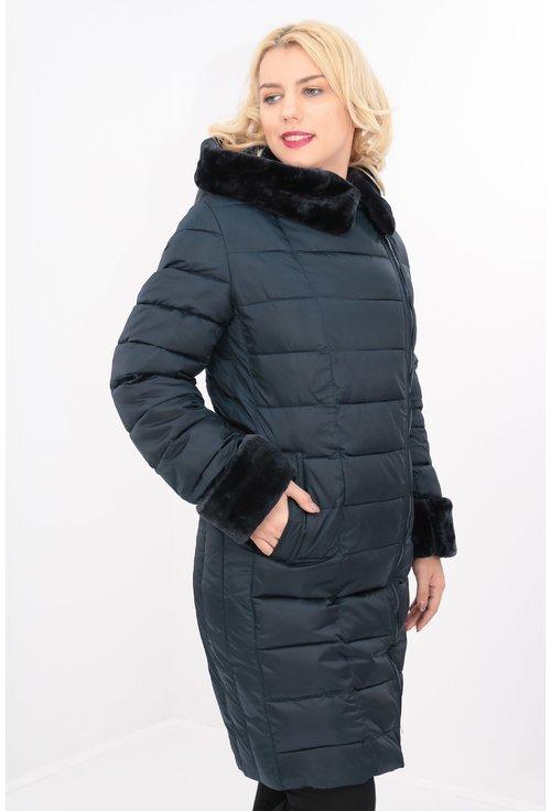 Jacheta eleganta de fas bleumarin