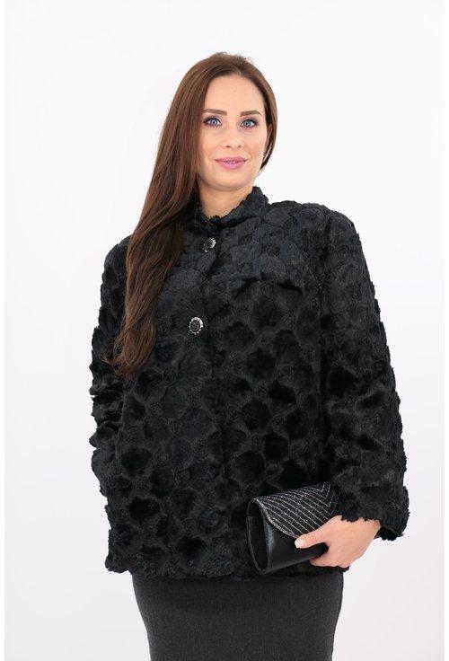 Jacheta neagra din blanita ecologica