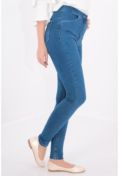 Jeans albastri skinny fit