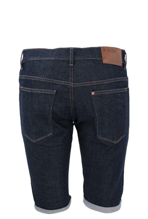 Jeans bleumarin scurti cu manseta