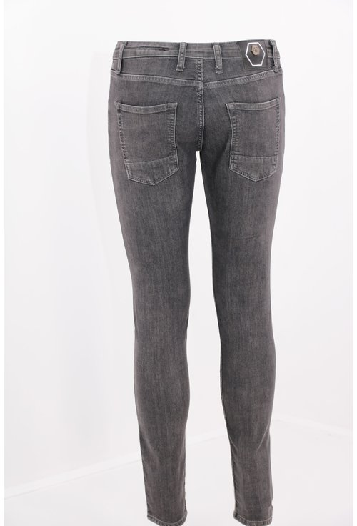 Jeans gri inchis skinny fit