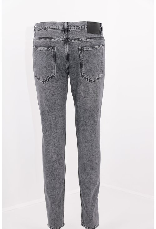 Jeans gri slim fit decolorati