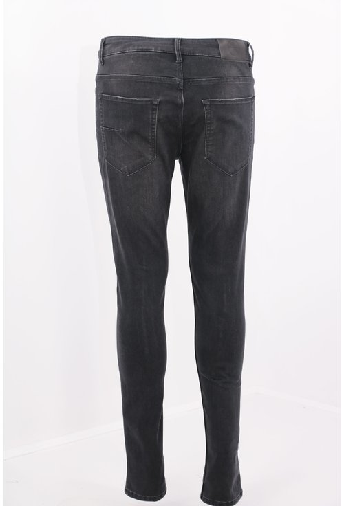 Jeans negri slim fit decolorati