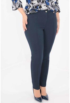 Pantaloni bleumarin din stofa groasa elastica